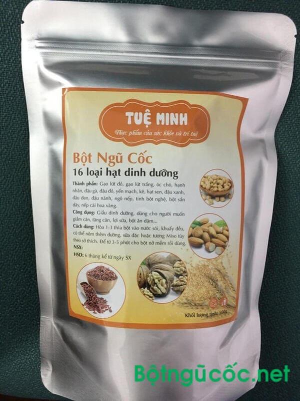 Bột ngũ cốc giảm cân Tuệ Minh đa công dụng